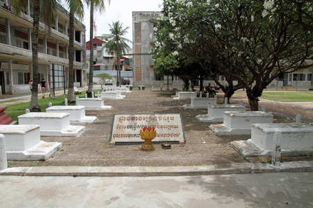 genocide: Tuol Sleng Genocide Museum in Phnom Penh, Cambodia