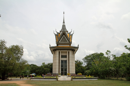 political prisoner: killing field in Phnom Penh, Cambodia