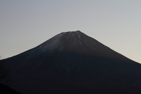 sacred source: Mt. Fuji before dawn Stock Photo