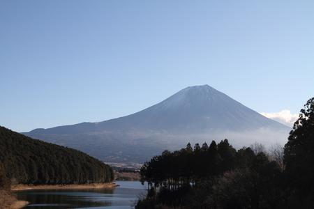 sacred source: Mt. Fuji from Tanuki lake Stock Photo