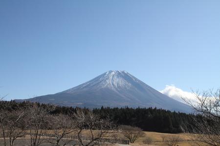 kawaguchi ko: Mt. Fuji from west lake Stock Photo