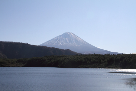 Mt. Fuji from west lake photo