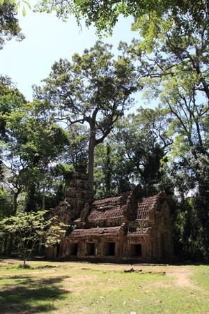 khan: Preah Khan in Angkor Stock Photo