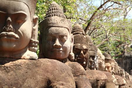 thom: Angkor thom south gate Stock Photo