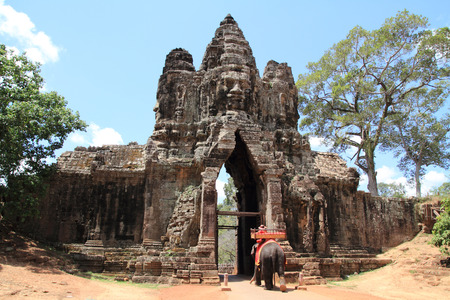 thom: Angkor thom south gate Stock Photo