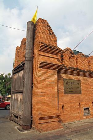 th�?¨: Puerta de Tha Phae en Chiang Mai, Tailandia Editorial