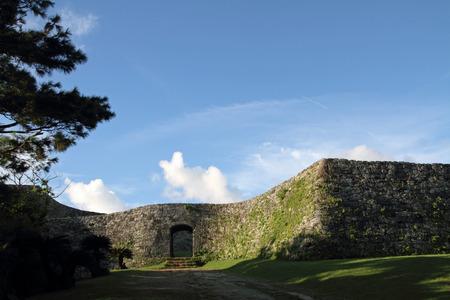 座喜味城沖縄 写真素材