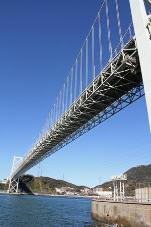 strait: Kammon strait bridge in Japan