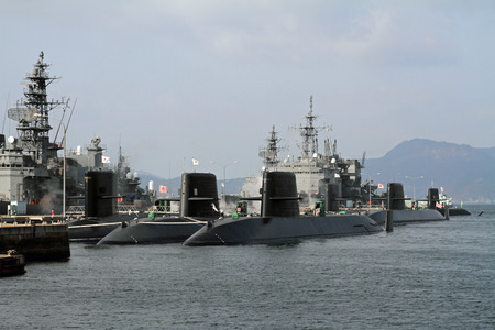 Naval port in Kure, Japan