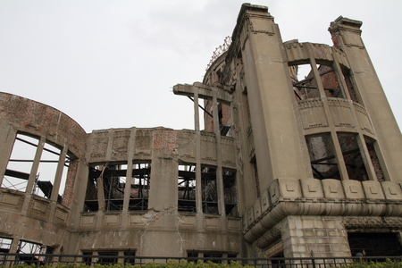 bomba atomica: Atomic Bomb Dome en Hiroshima, Jap�n Editorial