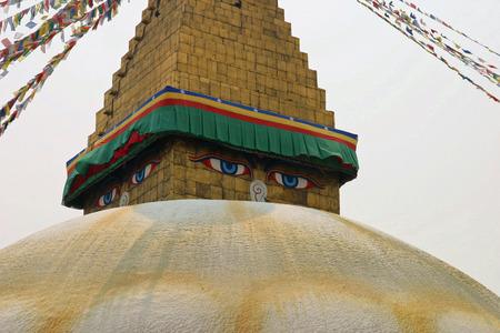 Boudhanath in Kathmandu, Nepal Stock Photo