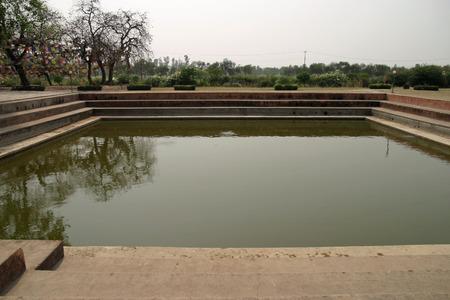 gautama buddha: Puskarni pond in Lumbini, Nepal