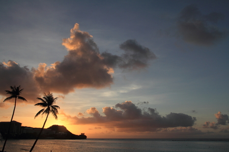 Sunset in Tumon Beach, Guam Banque d'images