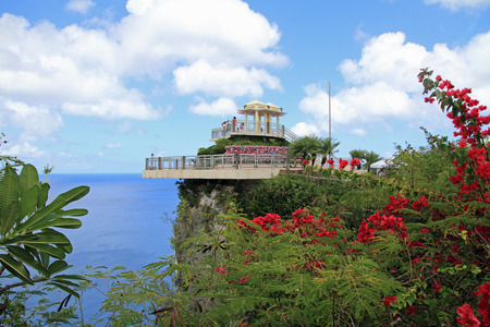 bluesky: two lovers point in Guam