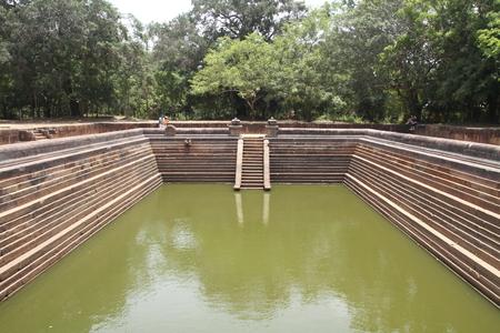 temple tank: Kuttam Pokuna (twin ponds) in Anuradhapura, Sri Lanka