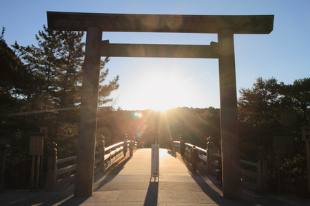 Uji bridge of Ise shrine in Mie, Japan 免版税图像