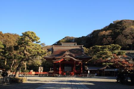 hachimangu: Dance hall of Tsurugaoka Hachimangu shrine in Kamakura