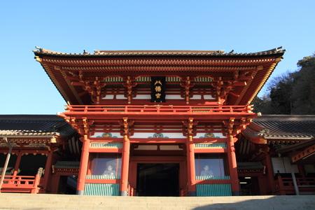 hachimangu: Main shrine of Tsurugaoka Hachimangu shrine in Kamakura Editorial