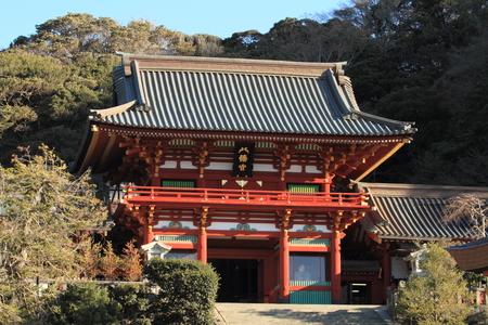 Main shrine of Tsurugaoka Hachimangu shrine in Kamakura Editorial