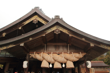 Prayer hall of Izumo Taisha Shrine 免版税图像