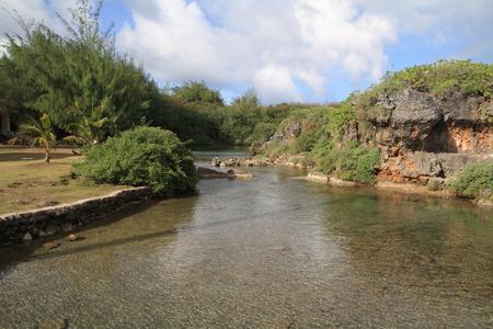 guam: Inarajan natural pool in Guam