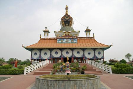 gautama buddha: German temple in Lumbini, Nepal