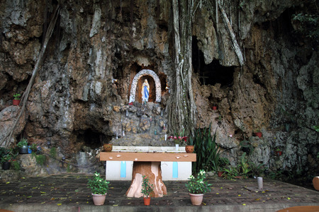 our lady: Our Lady of Loudes shrine in Saipan