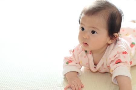 Crawling baby girl (Japanese baby)
