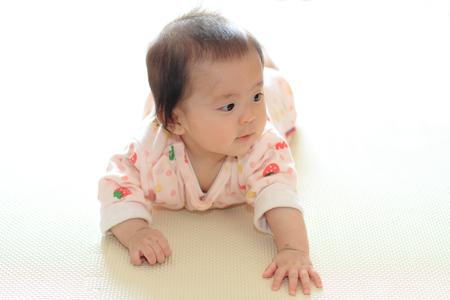 crawling baby: Crawling baby girl (Japanese baby)