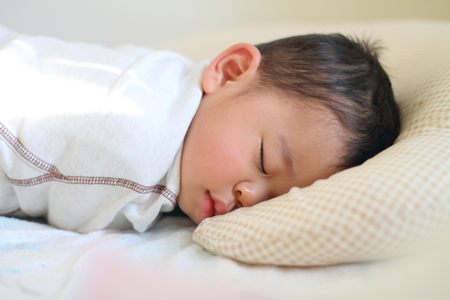 1 year old: Sleeping Japanese boy (1 year old) Stock Photo
