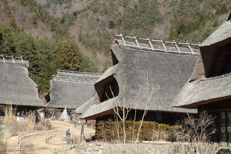 thatched roof: Japanese thatched roof house in Saiko