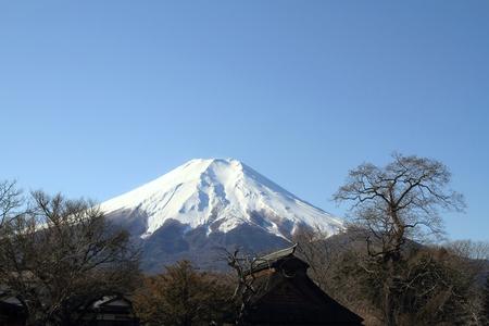 waterwheel: Oshino Hakkai spring and Mt. Fuji in Japan