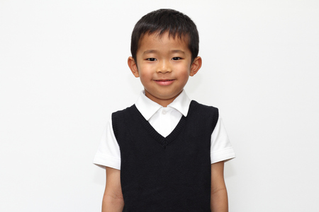 5 10 years old: Japanese boy in the formal wear 5 years old Stock Photo