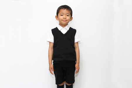 formal wear: Japanese boy in the formal wear 5 years old Stock Photo