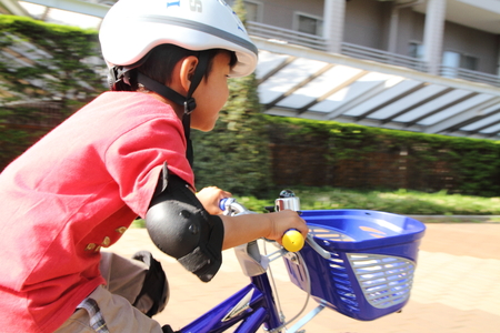 5 10 years old: Japanese boy riding on the bicycle 5 years old