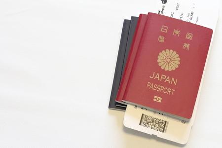 여권 및 탑승권 일본어 (빨간색과 파란색)