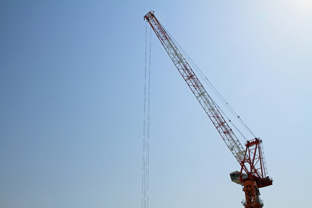 tower crane: tower crane at construction site in Japan