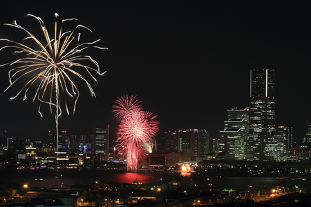 kanagawa: Fireworks at Yokohama, Kanagawa, Japan