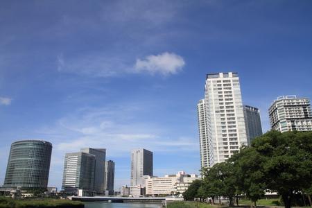 xerox: high rise buildings in Yokohama, Japan