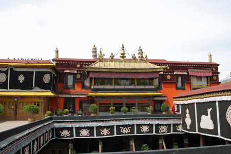 people's cultural palace: Jokhang temple in Tibet, China Editorial
