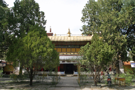 Norbulingka, summer palace in Tibet, China Editorial