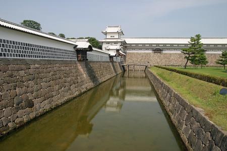 ishikawa: Kanazawa castle in Ishikawa, Japan