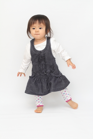 1 year old: Japanese toddling girl (1 year old) Stock Photo