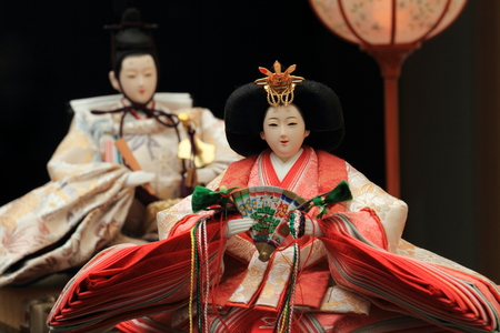 traditional events: Hina doll (Japanese traditional doll) to celebrate girls growth