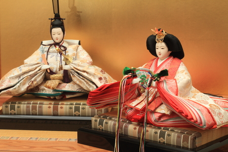 doll: Hina doll (Japanese traditional doll) to celebrate girls growth