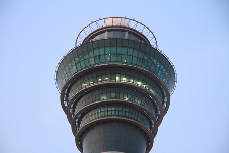 control tower: Airport control tower at Guangzhou Baiyun international airport