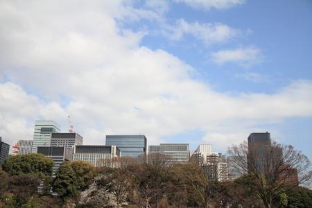 high rise buildings: high rise buildings in Marunouchi, Tokyo, Japan Stock Photo