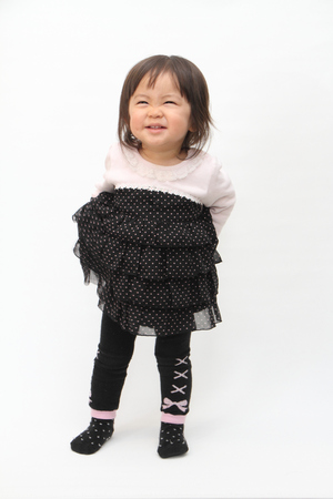 1 year old: Smiling Japanese baby girl (1 year old)