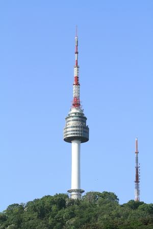 republic of korea: N Seoul Tower in Republic of Korea Stock Photo