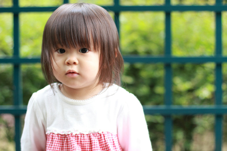 1: Smiling Japanese girl (1 year old)